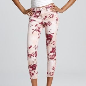 [J Brand] Skinny Twill Capri Twisted Pink Seashell
